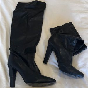 Jimmy chop calf leather black boots